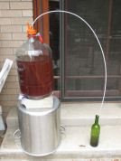 elevated carboy with siphon tube