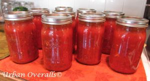 pasta sauce ready for pantry