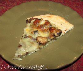 slice of mushroom pizza