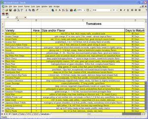 tomato spreadsheet