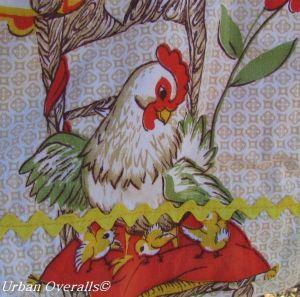 fun chicken print apron