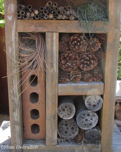 homemade bee hotel
