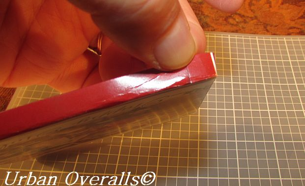 flap folded and taped to create corner