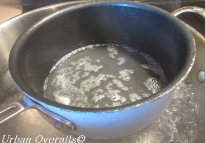 melting paraffin over modified double boiler