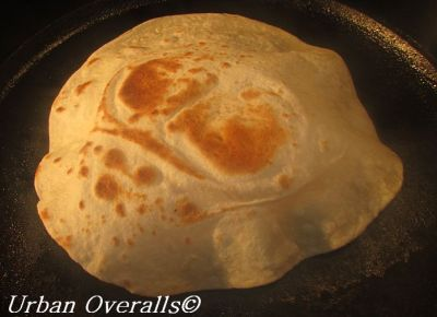 tortilla will puff after flipping