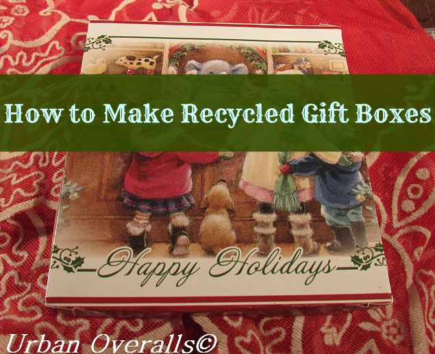 completed recycled gift box