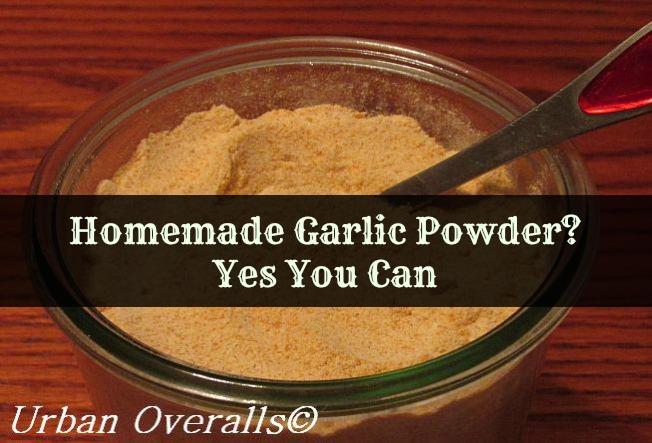 homemade garlic powder